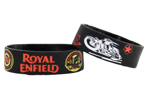 Wristband 30 mm Silicone Rubber Loop Band -ROYAL ENFIELD