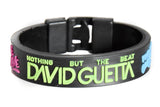 Wrist band 24 mm Silicone Rubber Lock Pattern David Guetta