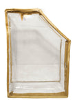 iShine PU Clear Transparent Blouse Organiser Cover Economy (Gold, Set of 1)