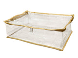 iShine PU Clear Transparent Blouse & Peticoat Organiser Cover (Gold)