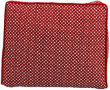 Cotton Clothes Organiser  Maroon Polka Dot 15 plus capacity (Set of 4)