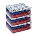 Clothes Storage Organiser Checks Pattern 15 Plus Capacity (Set of 6)
