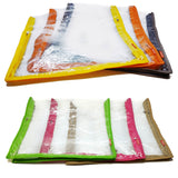 iShine Saree Pouch Clothes Storage Organiser Cover Transparent 15 Plus Capacity Set of 6
