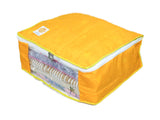 Wardrobe Storage Organiser Cover Dot Pattern 15 plus capacity Cotton (Yellow, Set of 3)