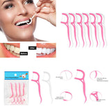 Right Angle Flosser Plackers Dental Floss Tooth Picks 25 pcs (75 pc, SET OF 3)