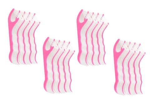 Right Angle Flosser Plackers Dental Floss Tooth Picks 25 pcs (100 pc, SET OF 4)