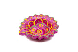 Floral Handmade Earthen Clay Terracotta Decorative Diyas Oil Lamps (Multicolor) - Set of 4