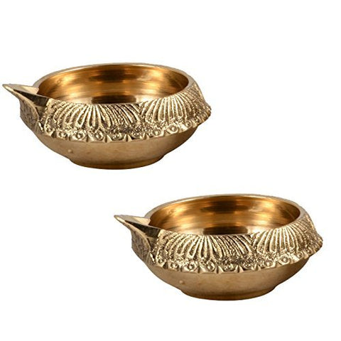 Kuber Brass Handmade Diya Oil Lamp For Festival