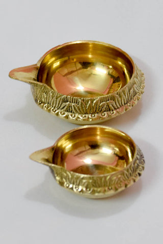Kuber Brass Handmade Diya Oil Lamp For Festival 3 Inch