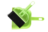 Plastic Dust Pan with brush for Workstation Office Kitchen Table - Set of 3