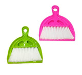 Virgin Plastic Dust Pan with brush for Workstation Office Kitchen Table