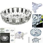 Crystal Turtle Tortoise with Plate for Feng Shui and Vastu Best Gift for Career and Good Luck