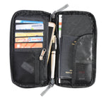 Passport Ticket Money Pouch Storage 8.5 x 8.5 inch (Black) 1 pc