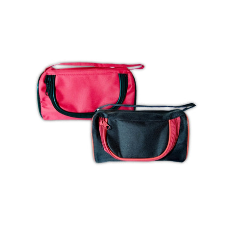Multi Purpose Travel Pouch - Black & Red - SET OF 2