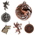 Game of Throne Key chain Metal ring keychain for Bike & Cars- 1 Pc
