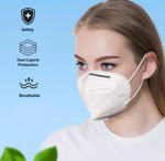KN95 filter dust mask Face Mask Pack of 20 pc White