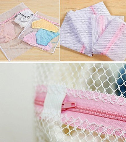Protective Mesh Net Zippered Wash Laundry Bag for Bra Underwear Lingerie and Delicate Clothing (Rectangle – 60 x 50 cm) Set of 2