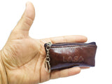 LASA Genuine Leather Money Purse Pocket with keychain (Small, SET OF 2)