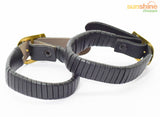 Designer Fashion Stylish Leatherette Punk Bracelet UNISEX - Intern Strip Black