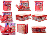 Make up Jewellery Organiser Bangle Cosmetic Pouch Travel bag kit (Red)