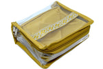 Compact Jewelery Medicine Transparent Pouch Gold Set of 2