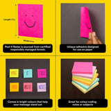 "Post-it Color Notes(3""x3"") - Pack of 3 (3x100 sheets)"