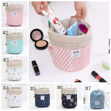 Cosmetic Bag Travel Printed Potlis Women Cosmetic Bag Barrel Shaped Drawstring SET OF 1