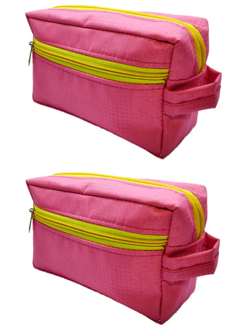 Travel Morning Toiletry Lingerie UG Multipurpose Storage Pouch - Pink - 2 pc