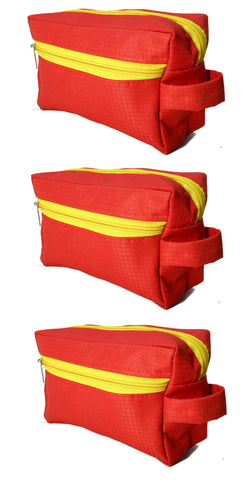 Travel Morning Toiletry Lingerie UG Multipurpose Storage Pouch - Red - 3 pc
