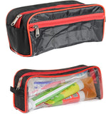Travel Morning Cosmetic Makeup Shaving Multi-Purpose Pouch Medium Large Set of 2