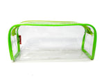 Transparent Travel Morning Toiletry Shaving Multi-Purpose Pouch (Green, 1 pc)