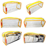 Travel Morning Toiletry Shaving Multi-Purpose Pouch kit (Yellow, Set of 2)