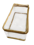 Transparent Travel Morning Cosmetic Socks Multi-Purpose Pouch Gold Satin - Set of 1