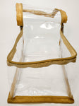 Multipurpose Transparent Zipper Travel Pouch ECO Set of 1 (Beige, Semi Medium)