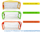 Transparent Travel Morning Toiletry Shaving Multi-Purpose Pouch (Orange, 2 pc)