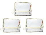 Transparent Travel Morning Cosmetic Makeup Shaving Multi-Purpose Pouch Large Top Open - Set of 2