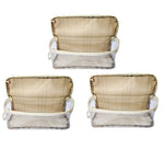 Travel Morning Cosmetic Makeup Shaving Multi-Purpose Pouch Large Top Open Checks - Set of 3