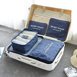 Travel Packing Cube Luggage Laundry Organizers Bag Clothes Storage Pouches (Assorted) (Set of 6)