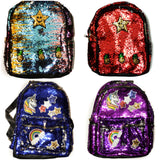Star Pineapples Sequin Sequin Fashion Outdoor School College Daily Use Backpack Daypack Stylish - RED