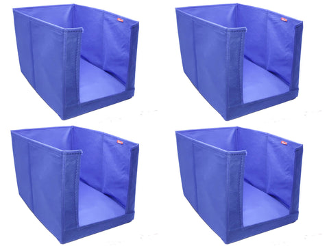 Clothes Stacker Wardrobe Organiser Sari Shirt Closet Organizer - (Blue, Set of 4)