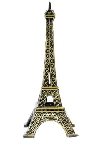 Eiffel Tower Statue French Metal French Statues Souvenir Replica Cake Topper Statues Replica 5 Inch Gift