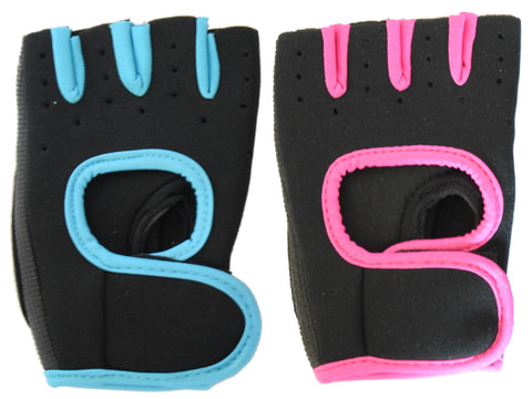 Hand Gloves for Gyming Cycling Biking Neon - Free Size