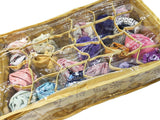 Inner Wear Garment Organiser Pouch Box 16 Partition Section Top Quality Golden JAMA Cloth 26x21x11 cm