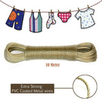 Wet Cloth Laundry Rope PVC Insulated String Cloth Drying Rope wire - 10mtr - 2 Pc