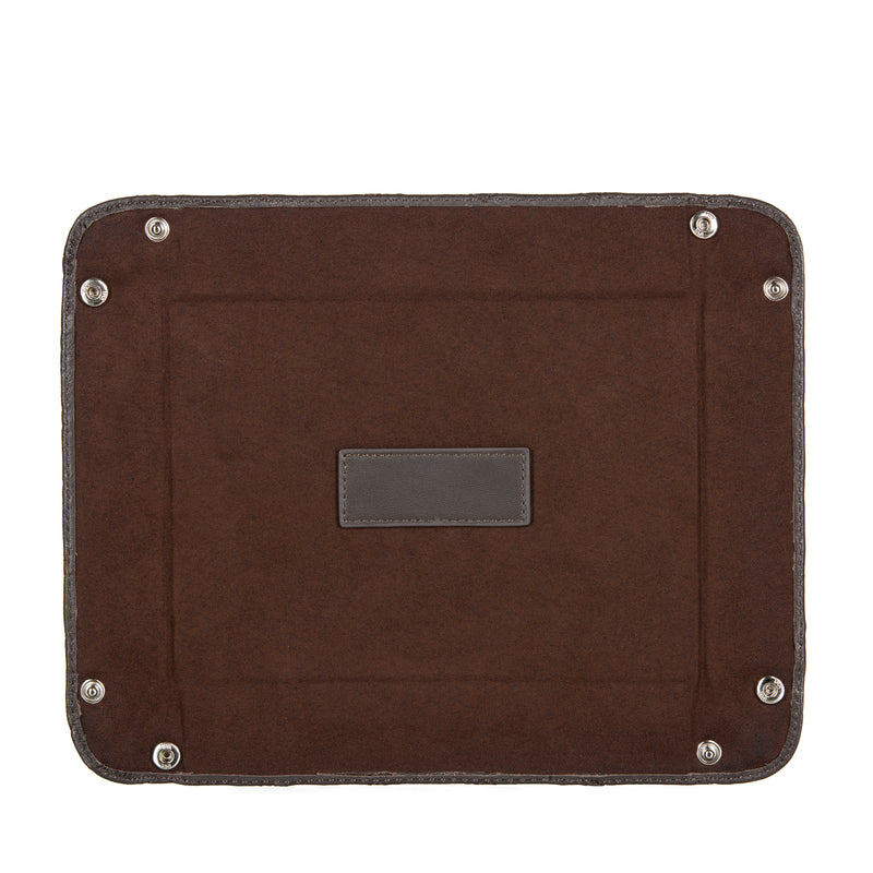 Brown Leather Valet Tray