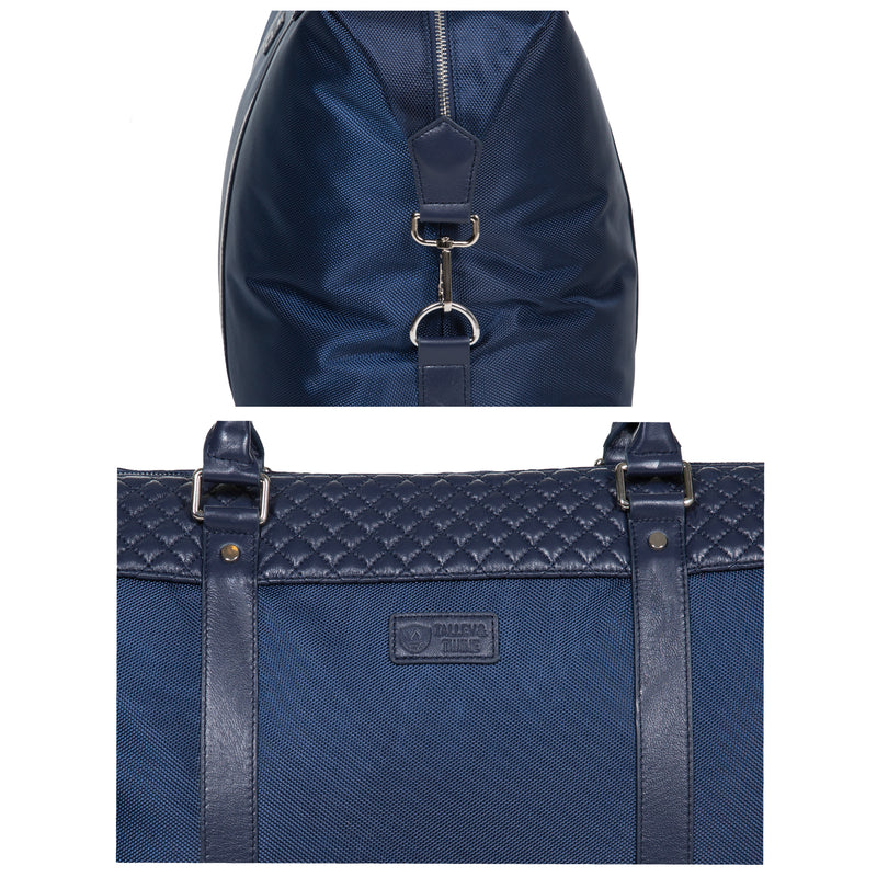 "22"" Dean Duffel Bag - Navy Leather & Navy Canvas"