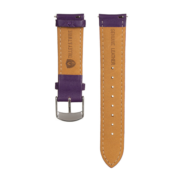 Women's Purple Leather Band w/ Silver Accents