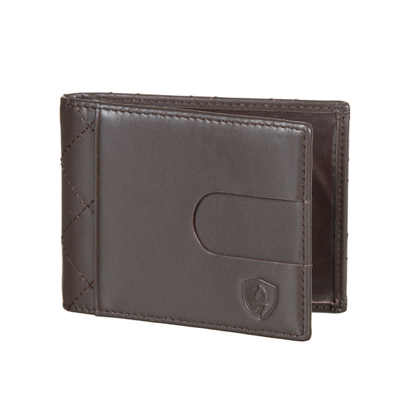 Dark Brown Leather Slim Wallet