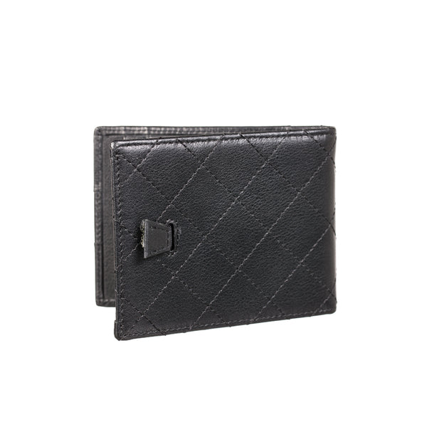 Black Leather Slim Wallet