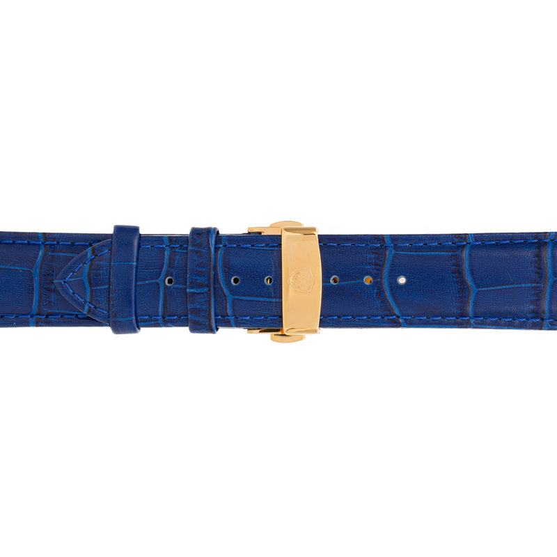 Blue Calfskin Leather Band